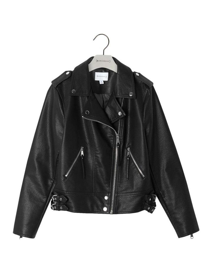 Pu Biker Jacket image 5