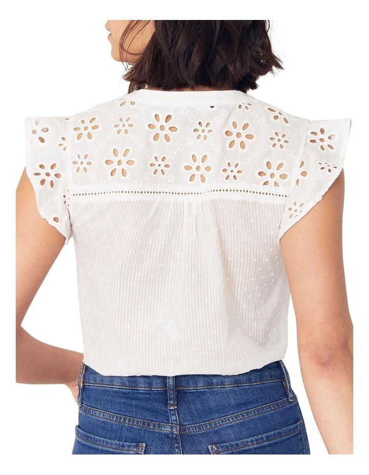 Broderie Trim Textured Shirt image 3