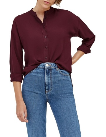 3ac53c8a7df8 Warehouse Satin Tipped Blouse