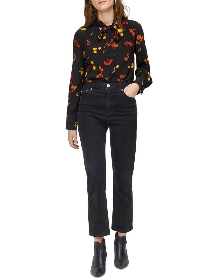 Sunset Floral Tie Neck Top image 5