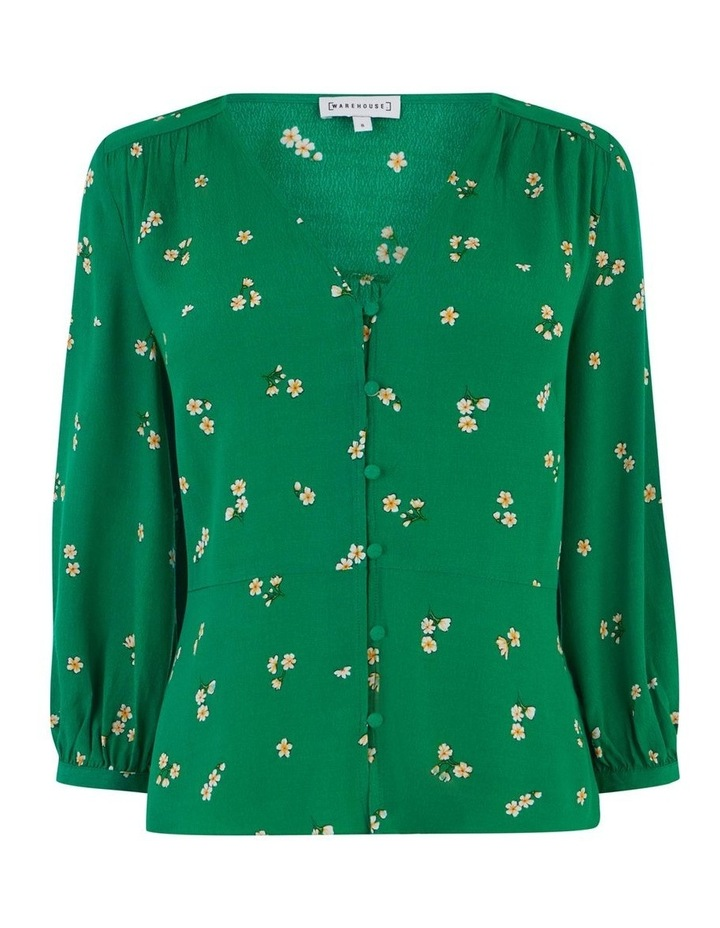 Verity Ditsy Floral Button Front Top image 4