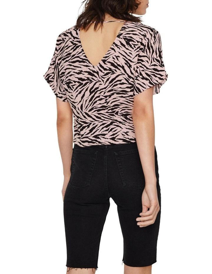 Zebra Tie Front Top image 2