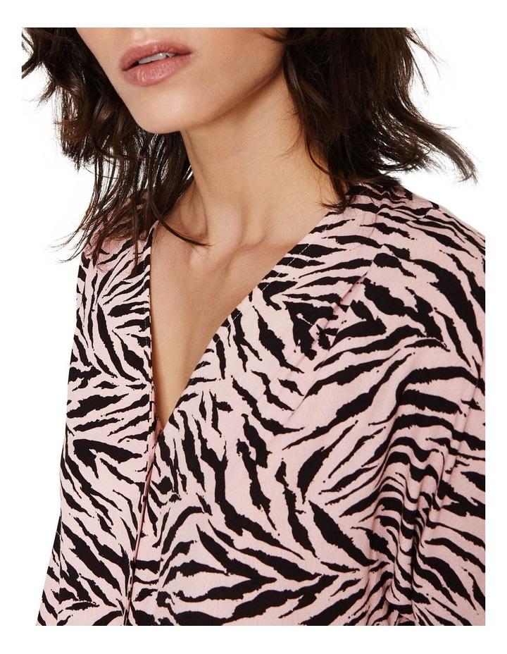 Zebra Tie Front Top image 3