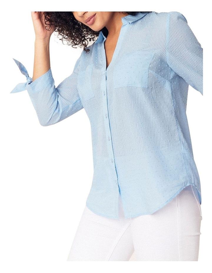 Long Sleeve Dobby Cotton Shirt image 1