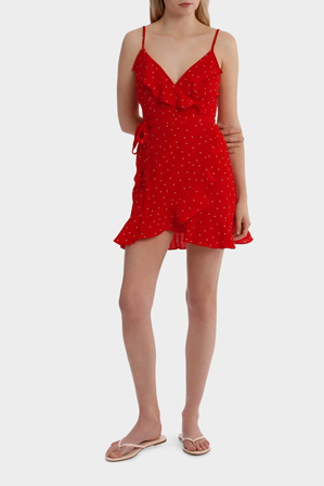 Lulu & Rose - Raquel Spot Ruffle Dress