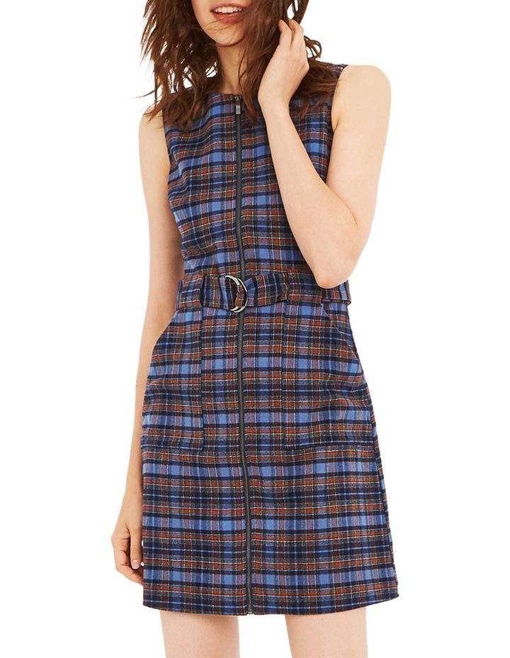 Blue Check Shift Dress image 1