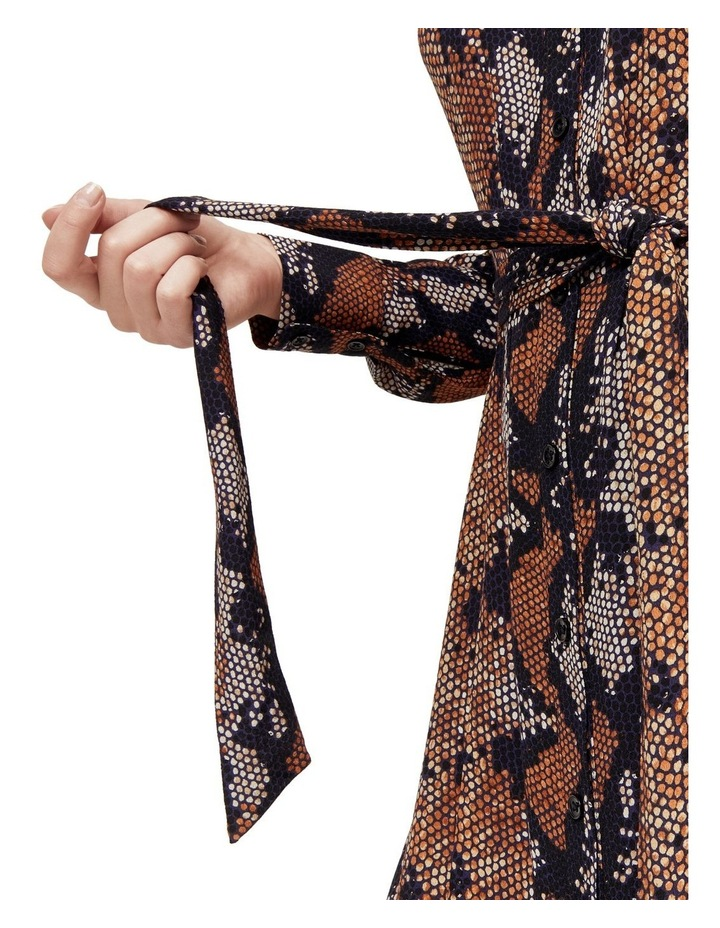 Snake Print Shirt Dress image 3