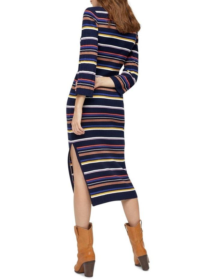 Multi Rib Polo Neck Stripe Dress image 2