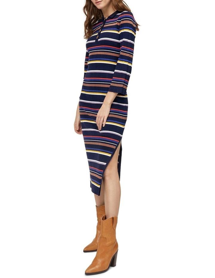 Multi Rib Polo Neck Stripe Dress image 5