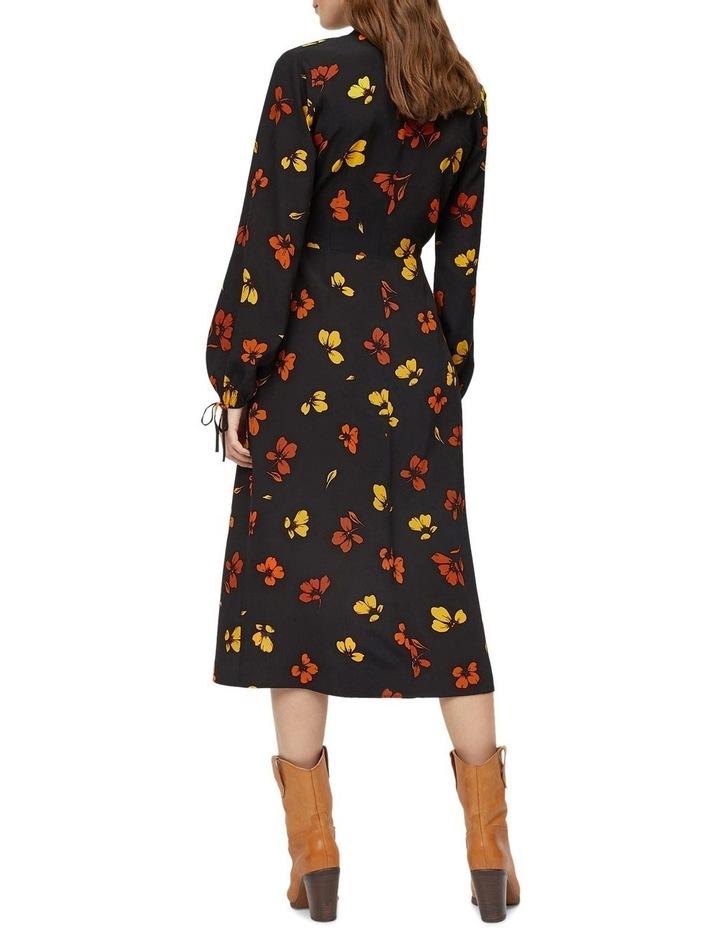 Sunset Floral Wrap Midi Dress image 2