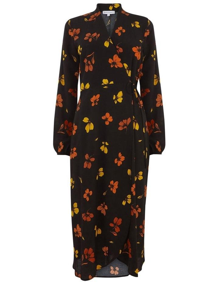 Sunset Floral Wrap Midi Dress image 4