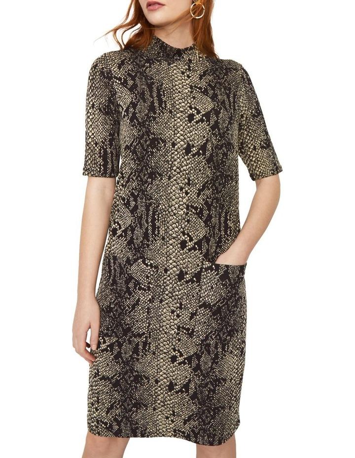 Snake Print Pocket Dress image 1