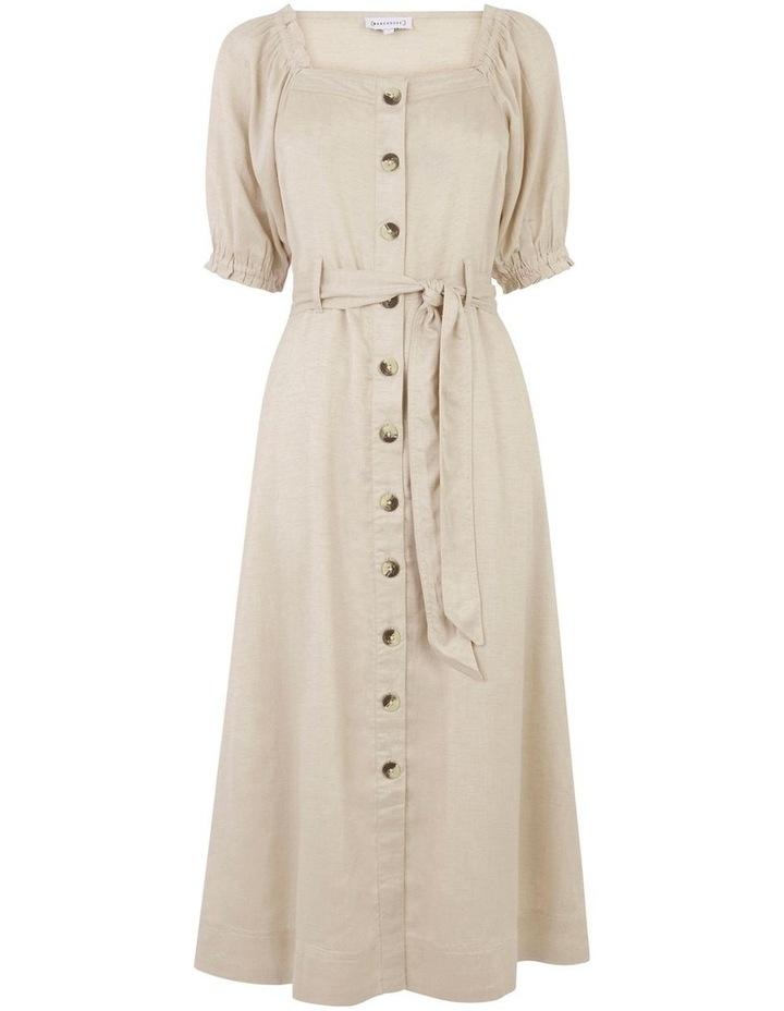 Top Stitch Square Neck Dress image 4