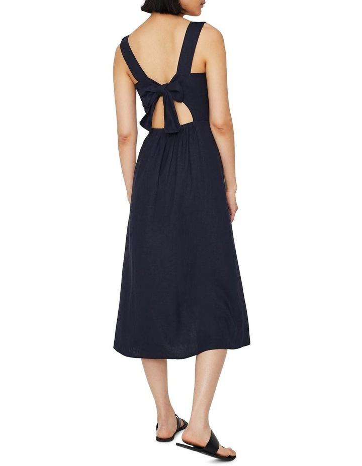 Linen Button Front Midi Dress image 2