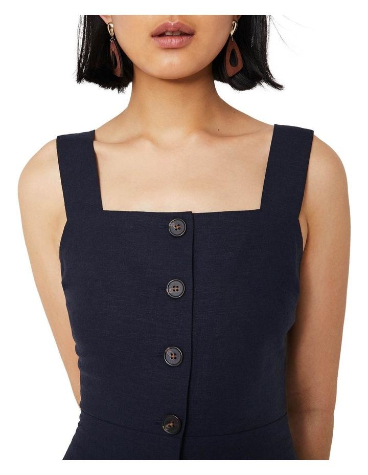 Linen Button Front Midi Dress image 3