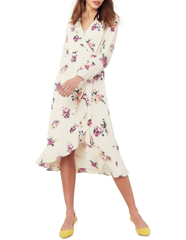Garden Chiffon Sleeved Midi Dress image 1