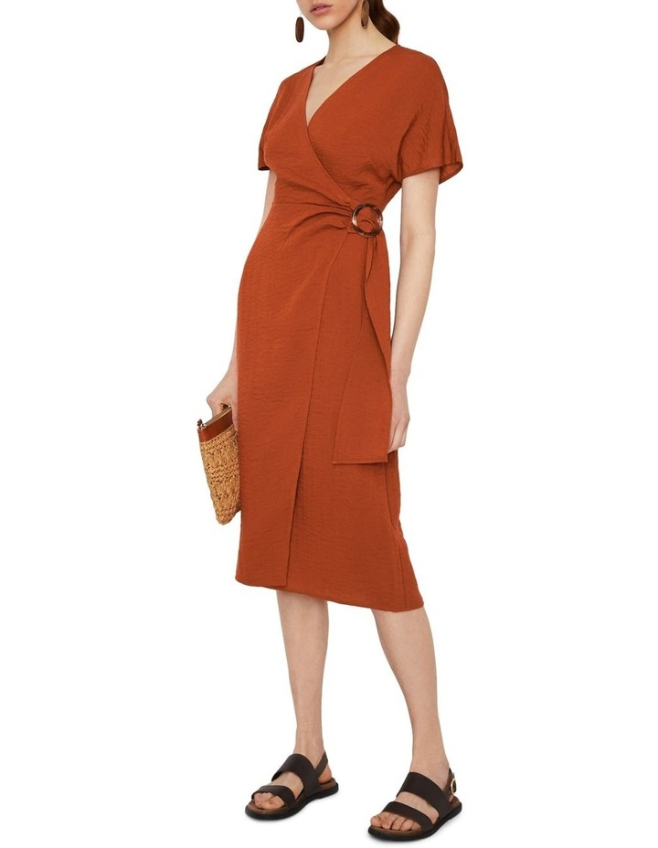 Textured Buckle Crepe Dress image 1