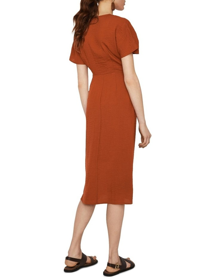 Textured Buckle Crepe Dress image 2