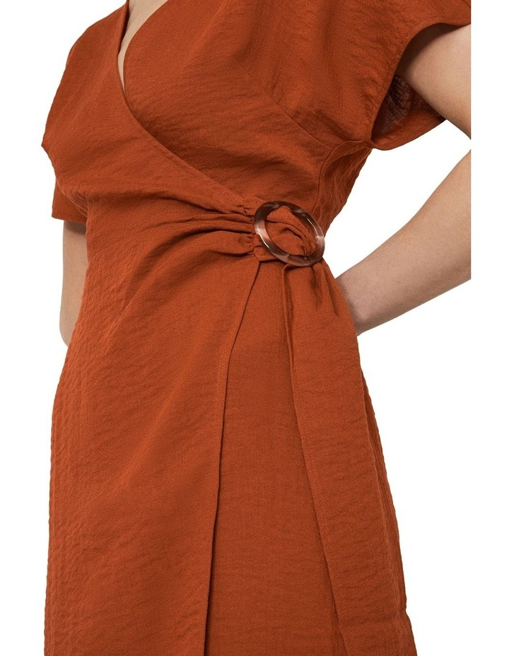Textured Buckle Crepe Dress image 3
