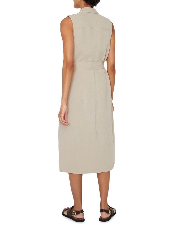 Linen Buckle Shirt Dress image 2