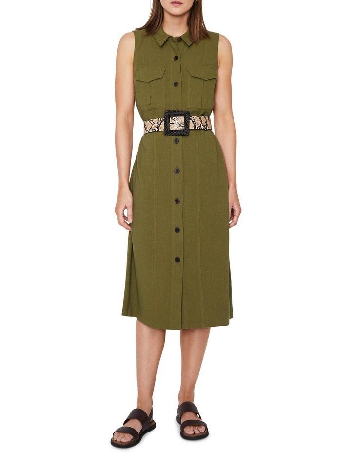 Linen Buckle Shirt Dress image 1