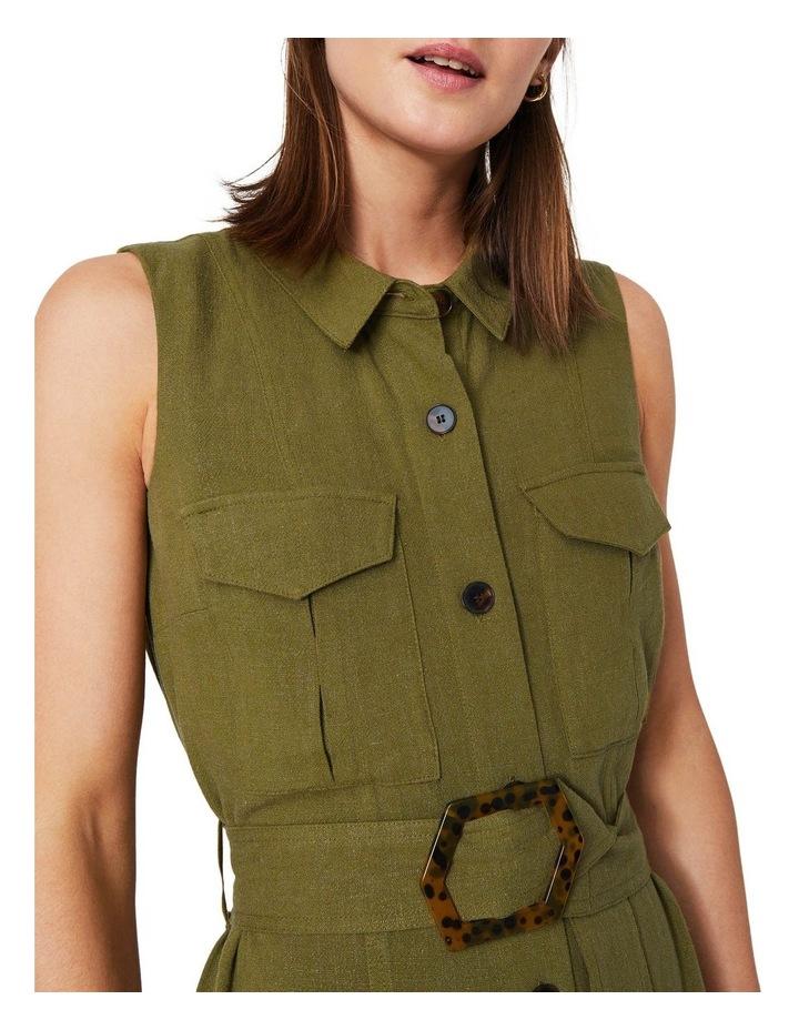 Linen Buckle Shirt Dress image 3