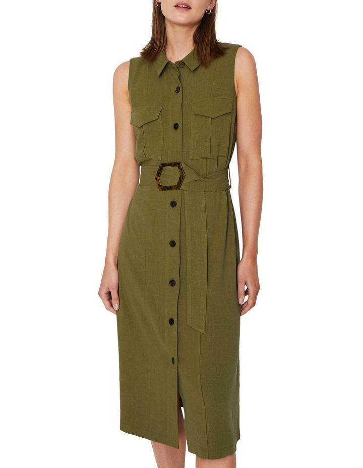Linen Buckle Shirt Dress image 5