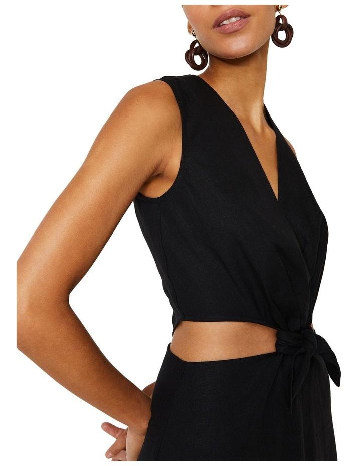 Tie Front Cutout Maxi Linen Dress image 2