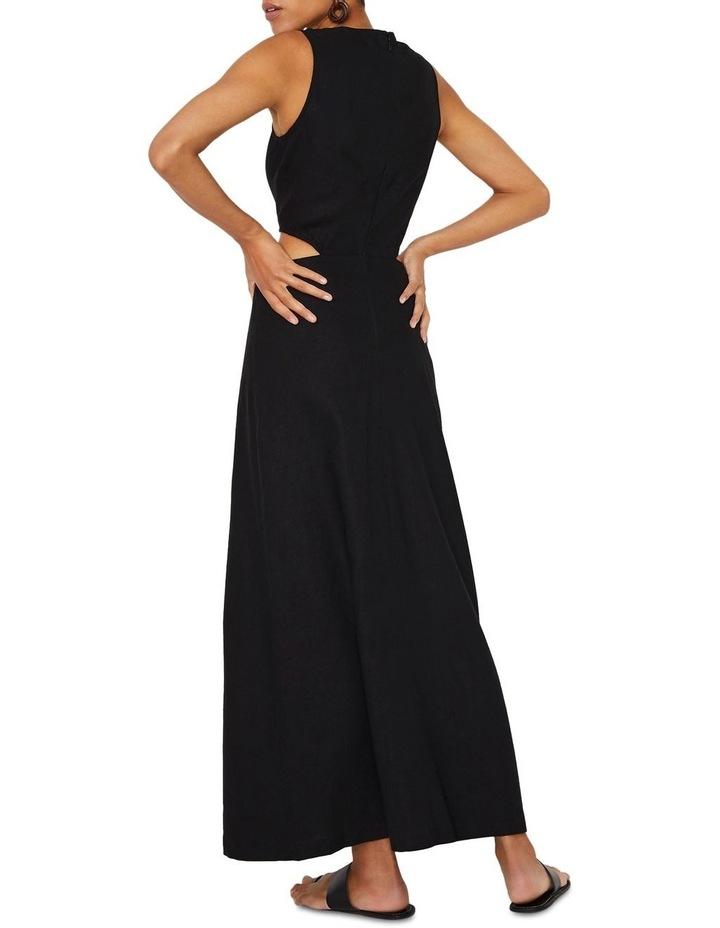 Tie Front Cutout Maxi Linen Dress image 3