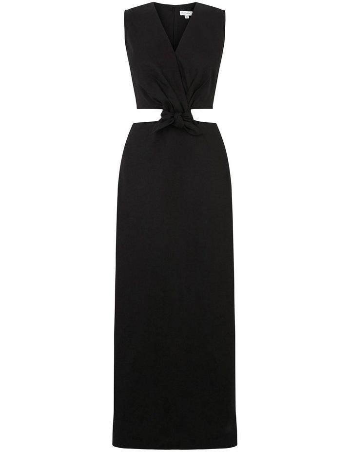 Tie Front Cutout Maxi Linen Dress image 5