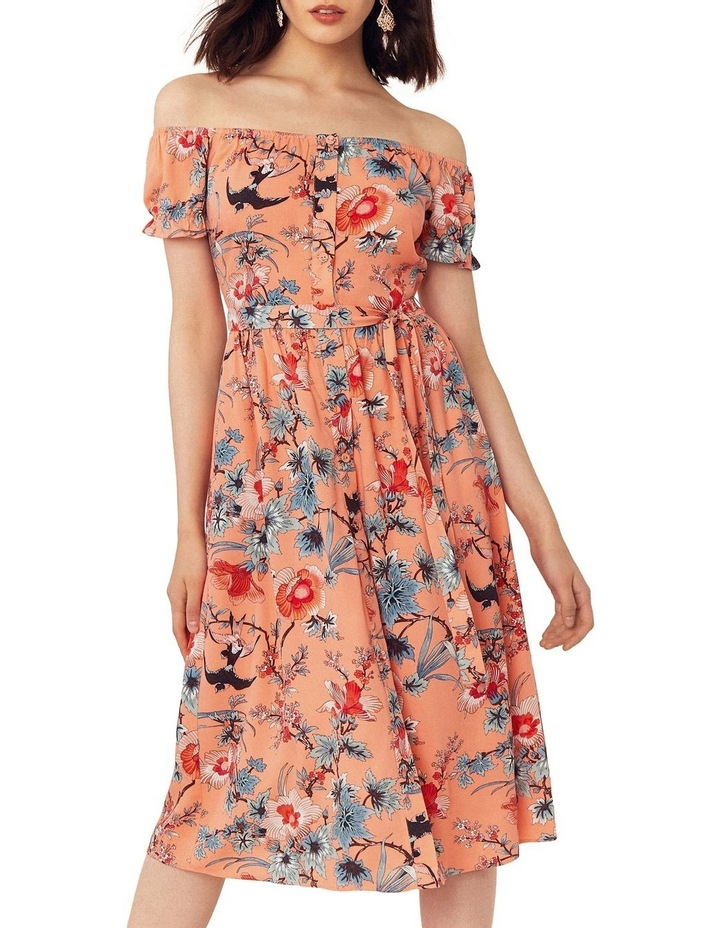 Mellow Meadow Viscose Bardot Midi image 1