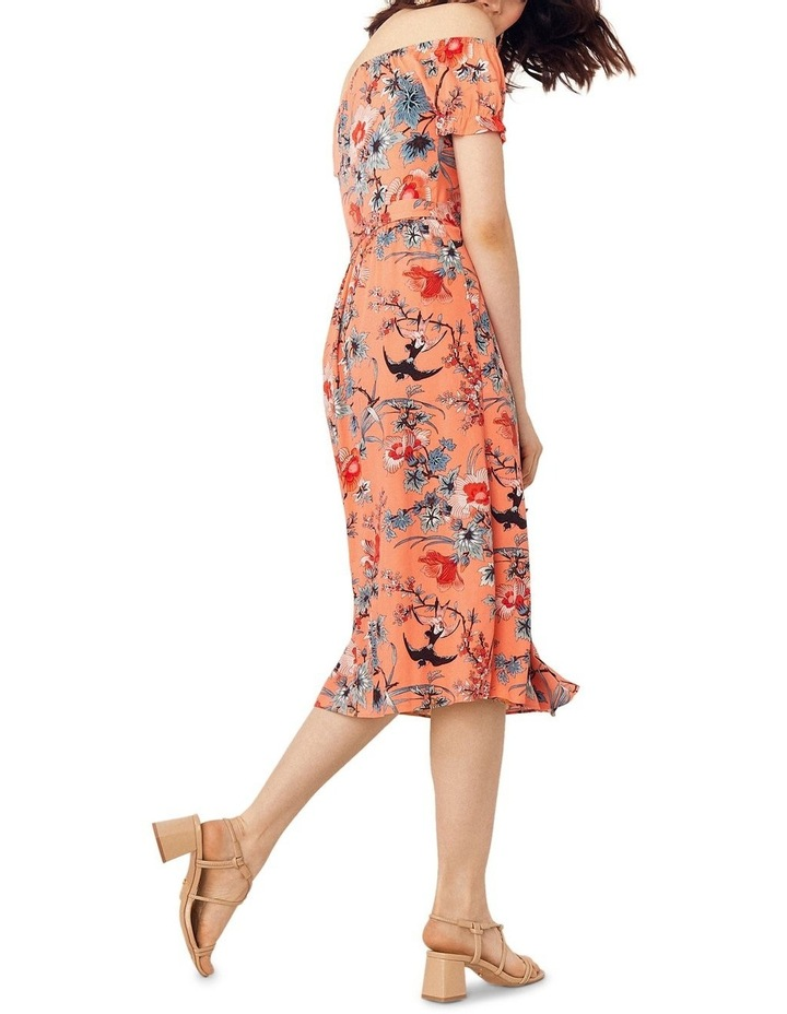 Mellow Meadow Viscose Bardot Midi image 3