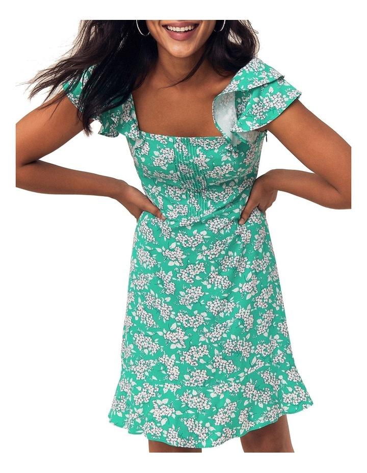 Garden Ditsy Viscose Skater Dress image 1