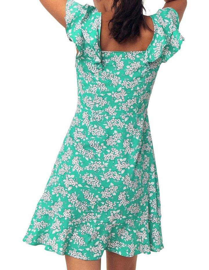 Garden Ditsy Viscose Skater Dress image 3