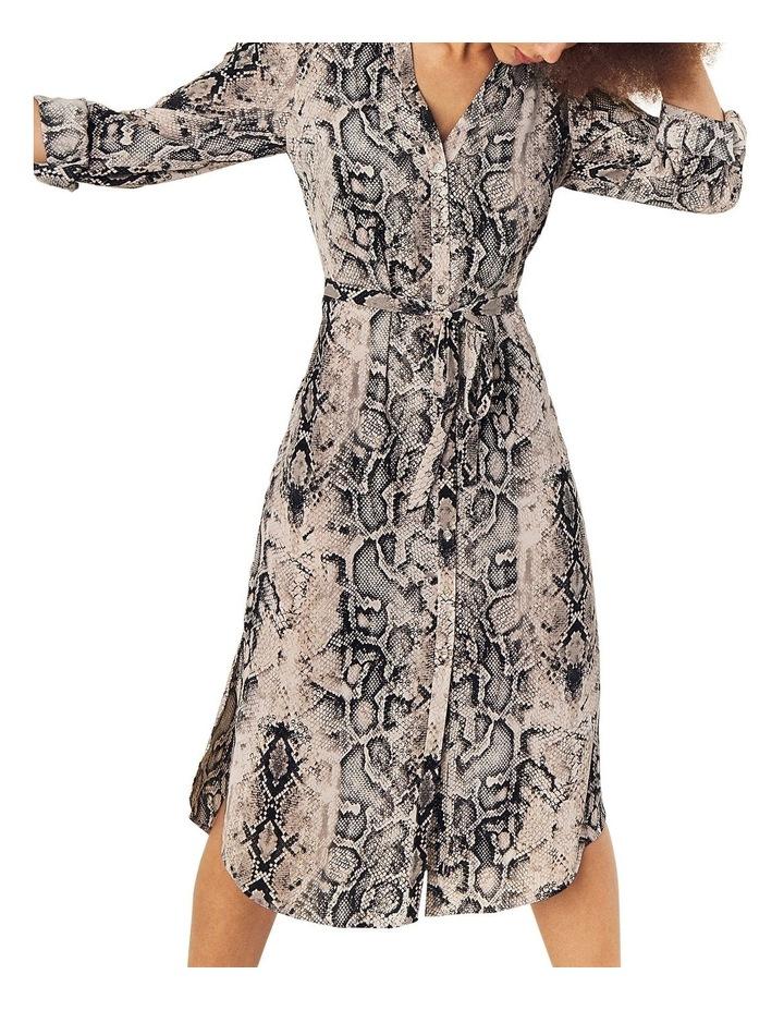 Snake Midi Shirt Dress image 2