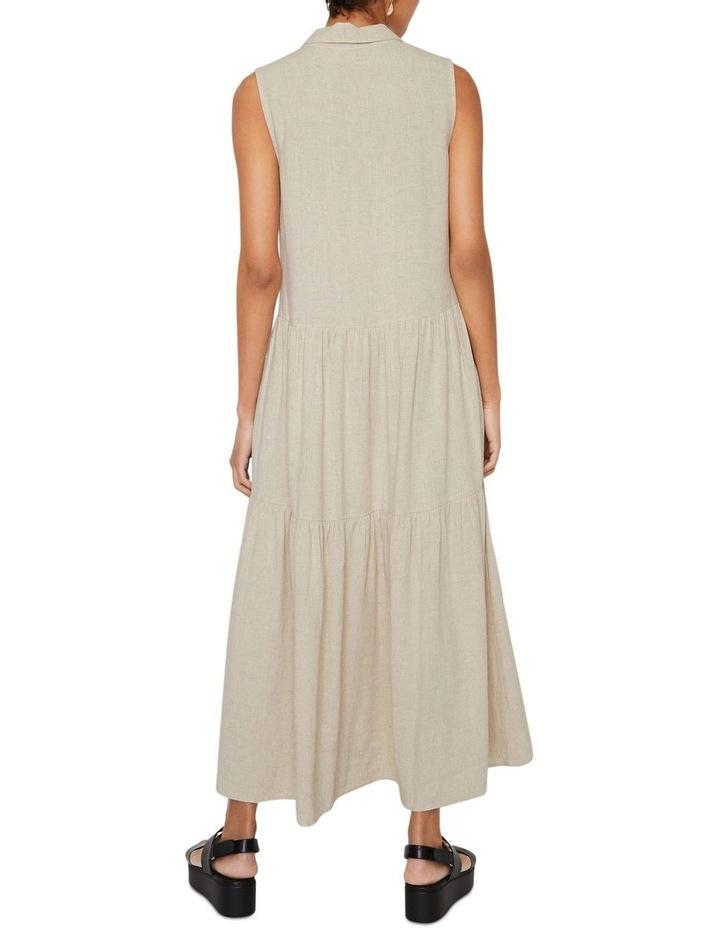 Linen Tiered Shirt Dress image 2