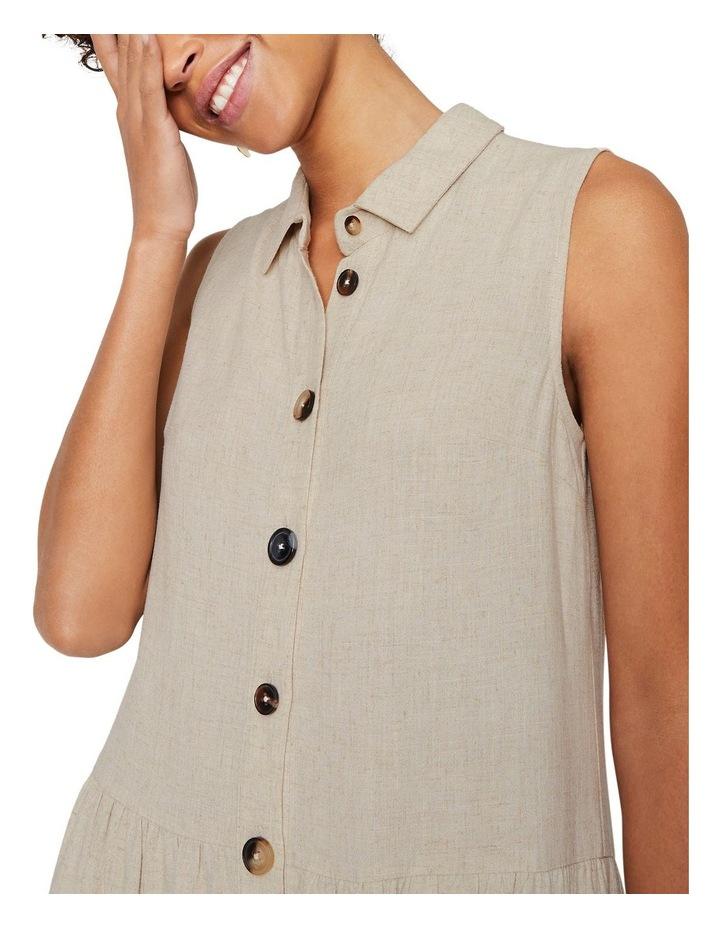 Linen Tiered Shirt Dress image 3