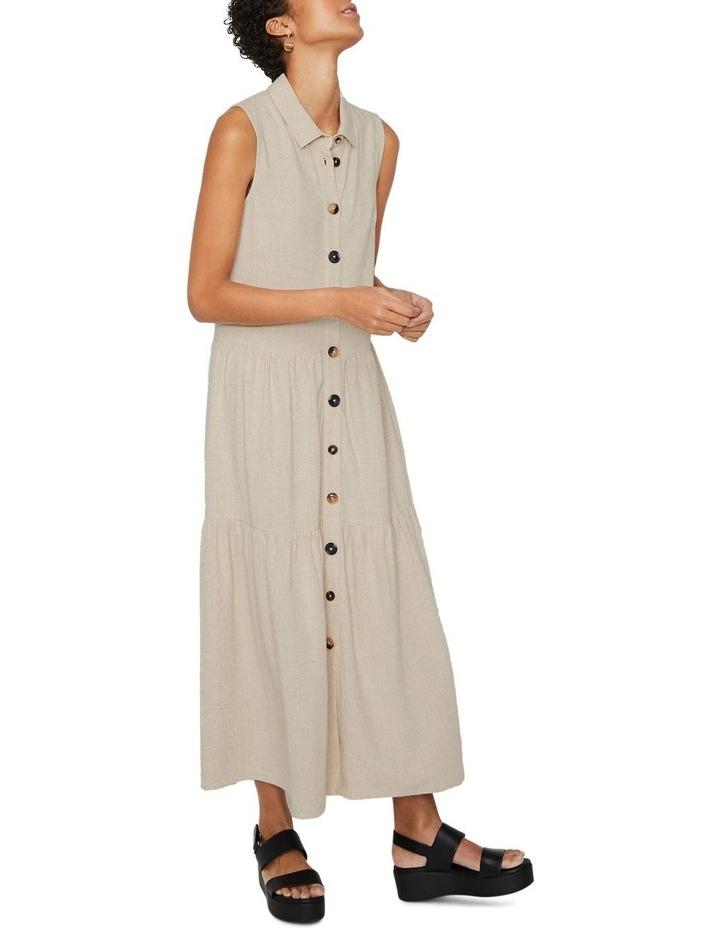 Linen Tiered Shirt Dress image 5