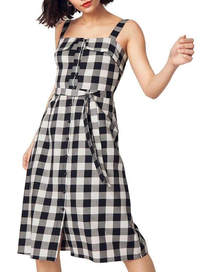 Gingham Bardot Midi Dress image 1