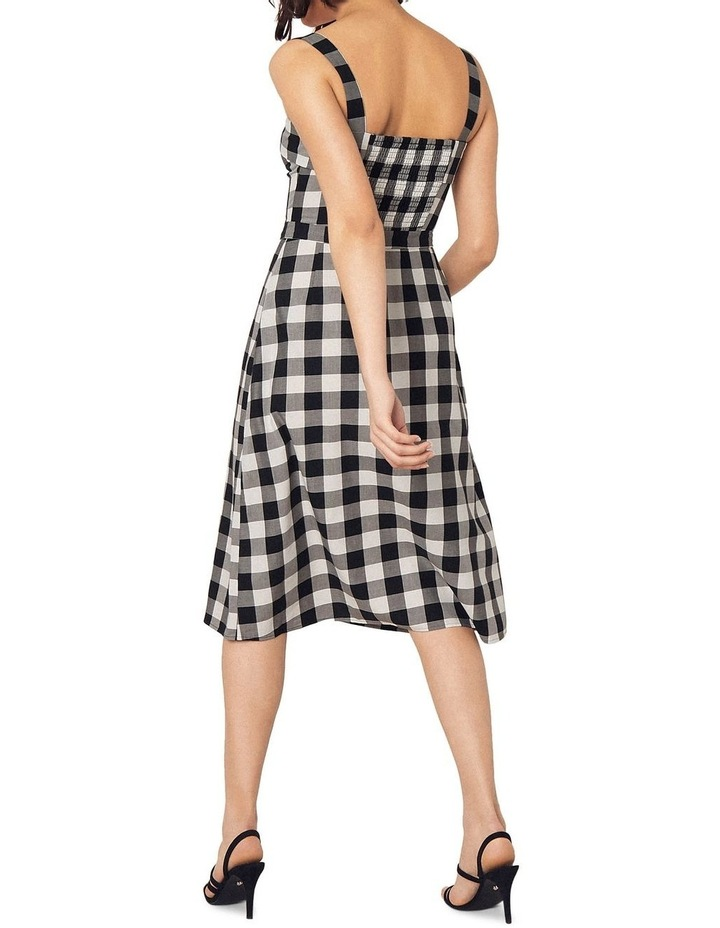 Gingham Bardot Midi Dress image 2