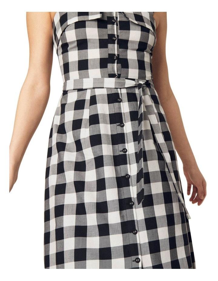 Gingham Bardot Midi Dress image 3