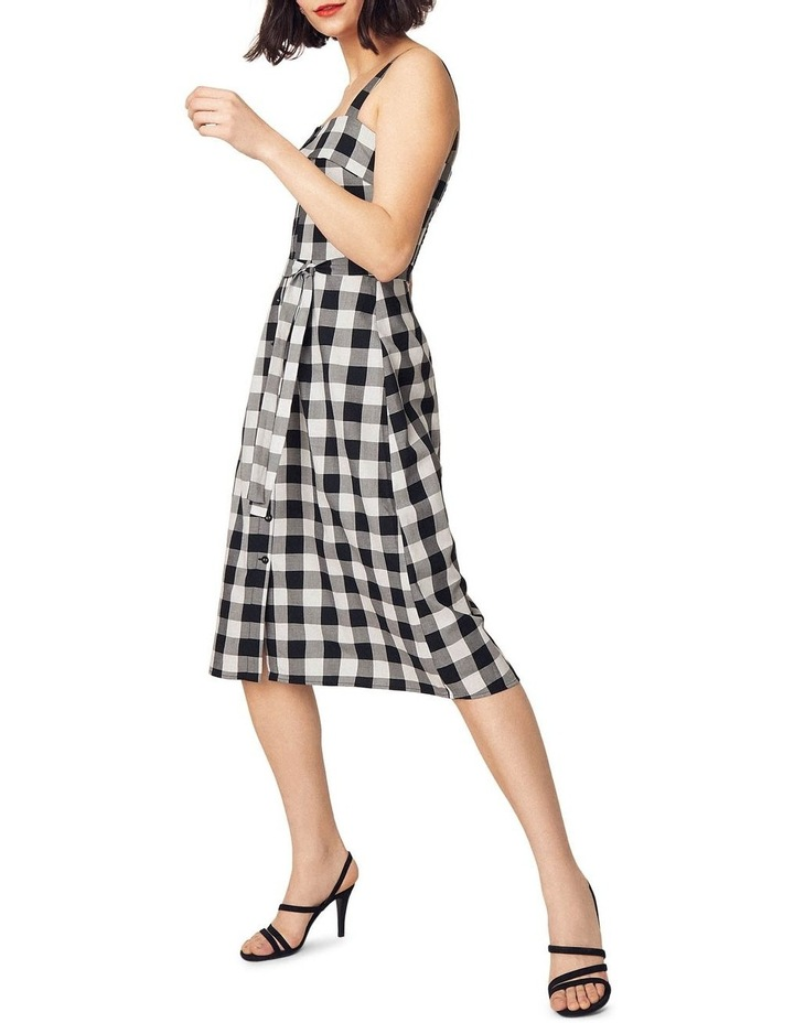Gingham Bardot Midi Dress image 4