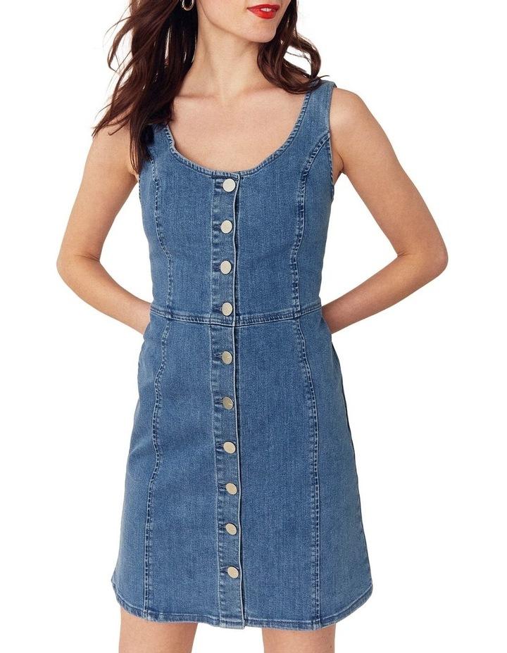 Button Through Mini Dress image 1