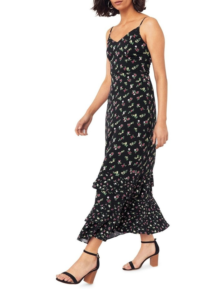 Ditsy Tiered Cami Midi Dress image 1