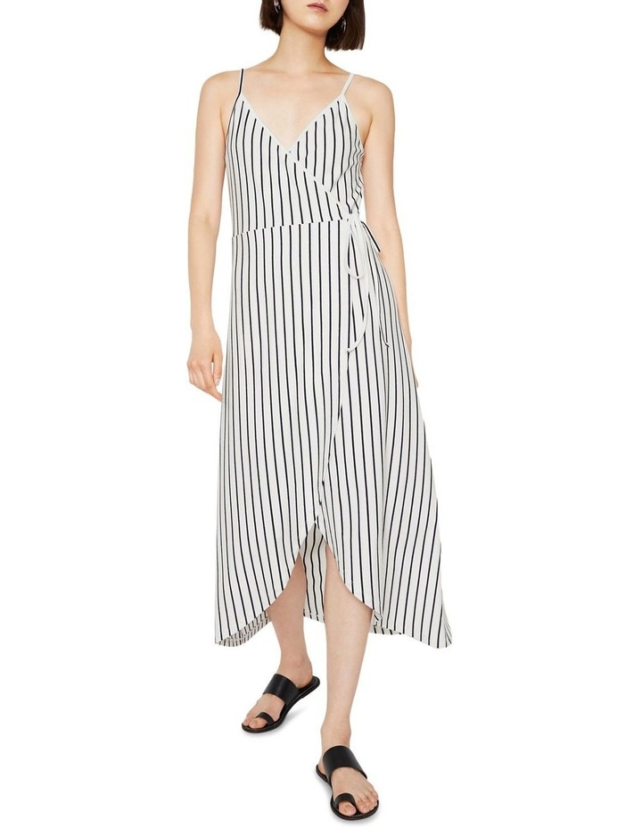 Stripe Cami Wrap Maxi Dress image 1