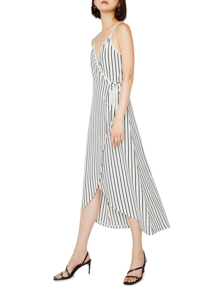 Stripe Cami Wrap Maxi Dress image 4