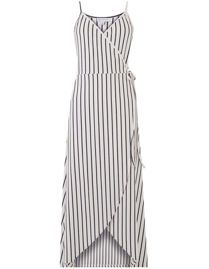 Stripe Cami Wrap Maxi Dress image 6