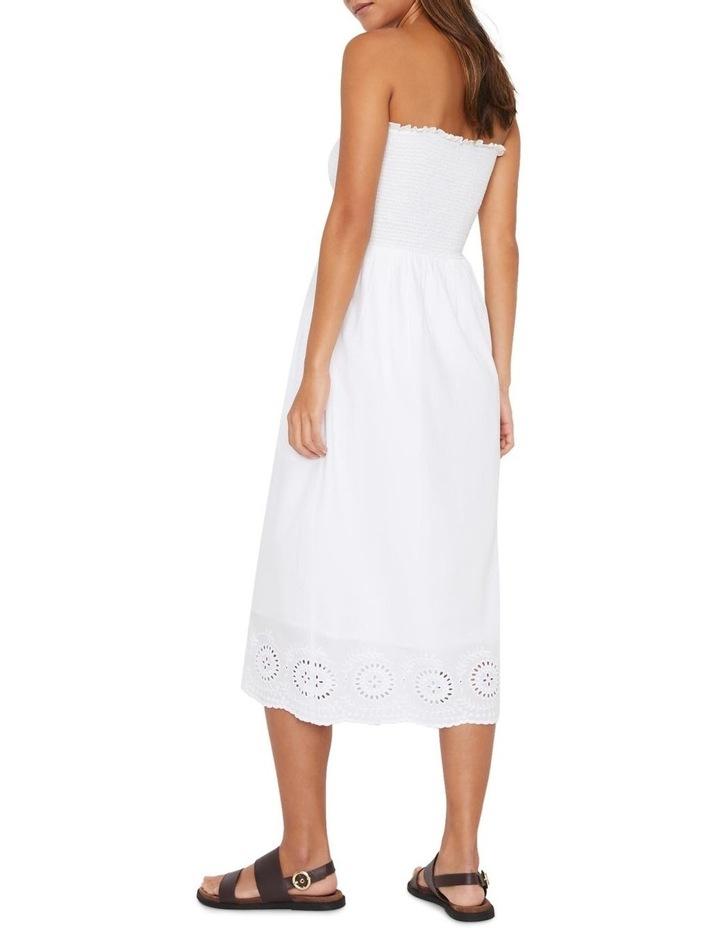 Embroidered Hem Smocked Midi Dress image 2