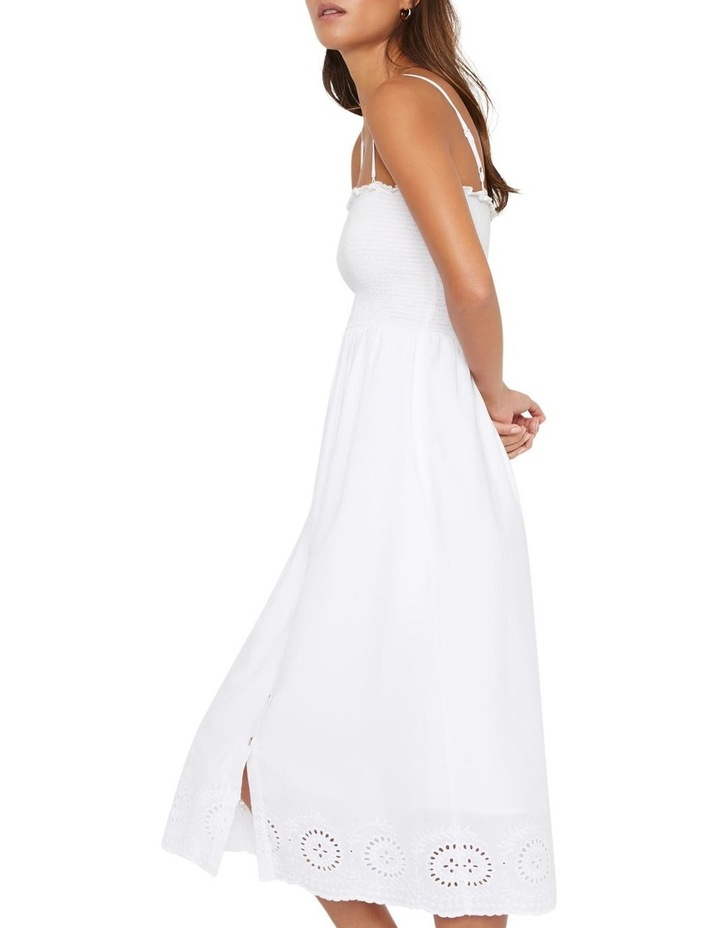 Embroidered Hem Smocked Midi Dress image 4