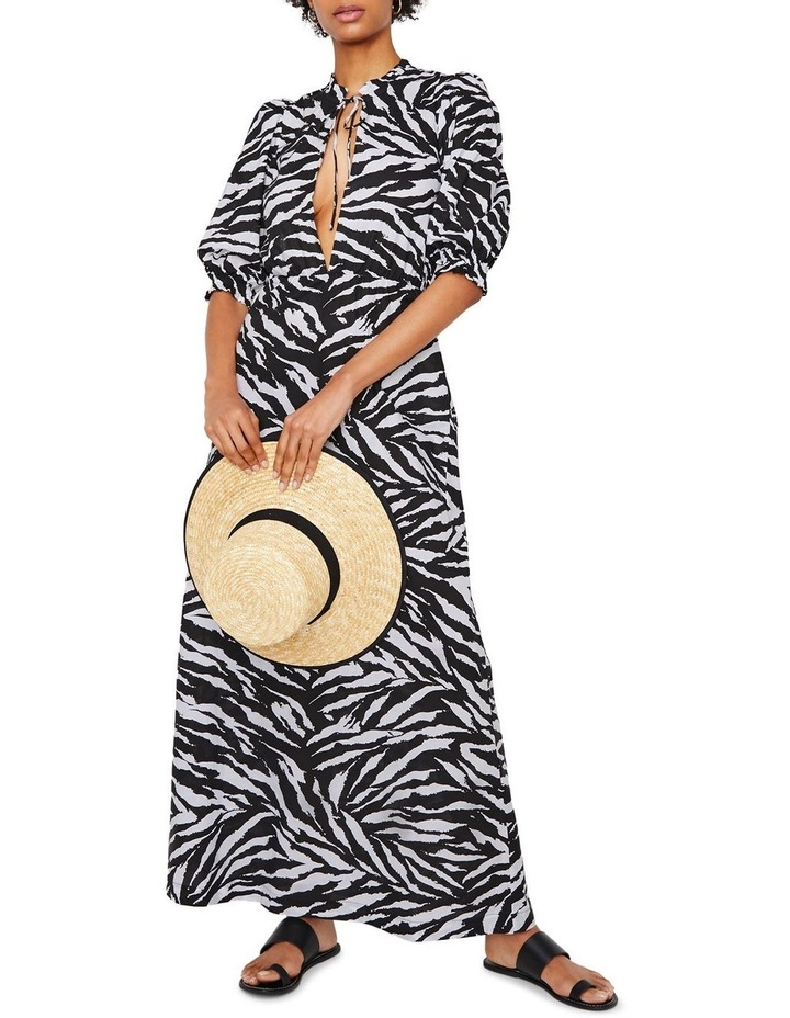 Zebra Open Back Maxi Dress image 1